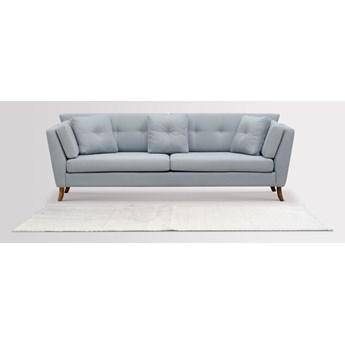 Sofa Irisar 3-osobowa (Bawełna 63%, len 37% PUDROWY NIEBIESKI :len bawełna/pudrowy niebieski)