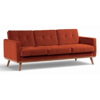 Sofa Fern 3-osobowa Welurowa z funkcją spania (Deluxe - welur łatwozmywalny SIENA :deluxe/SIENA)