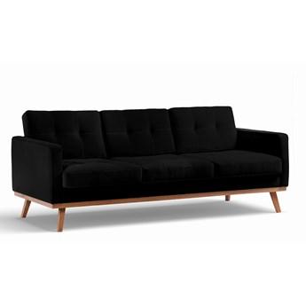 Sofa Fern 3-osobowa Welurowa z funkcją spania (Welur bawełna 100% CZARNY :welur/CZARNY)