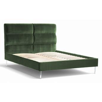 Łóżko Forsythian (200X200) welurowe  (NAPOLI - welur łatwoczyszczący Zielony:napoli/ZIELONY 12)