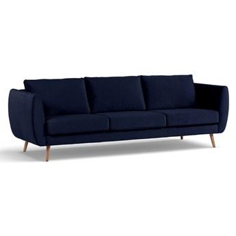 Sofa Korneller 3-osobowa Welurowa (Welur bawełna 100% |GRANATOWY :welur/GRANATOWY)