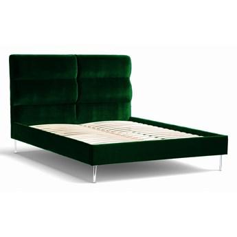 Łóżko Forsythian (140X200) welurowe    (Welur bawełna 100% ZIELONY :welur/ZIELONY)