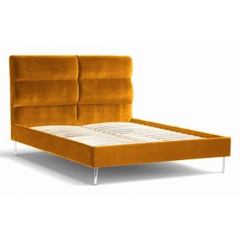 Łóżko Forsythian (140X200) welurowe    (Deluxe - welur łatwozmywalny WOOD :deluxe/WOOD)