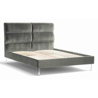 Łóżko Forsythian (160X200) welurowe  (Deluxe - welur łatwozmywalny  DOVE :deluxe/DOVE)