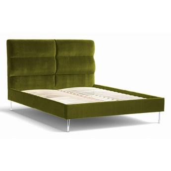 Łóżko Forsythian (160X200) welurowe  (Welur bawełna 100% OLIWKOWY :welur/OLIWKOWY)