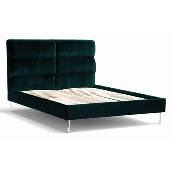 Łóżko Forsythian (160X200) welurowe  (Welur bawełna 100% CIEMNOZIELONY :welur/CIEMNOZIELONY)