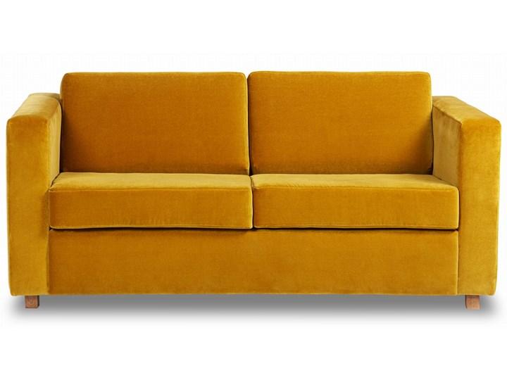 Sofa Narcisser 2-osobowa Welurowa z funkcją spania (Welur bawełna 100% CIEMNOZIELONY :welur/CIEMNOZIELONY) Stała konstrukcja Nóżki Na nóżkach