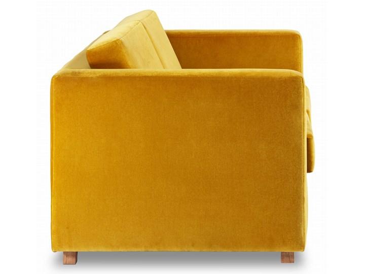 Sofa Narcisser 2-osobowa Welurowa z funkcją spania (Welur bawełna 100% CIEMNOZIELONY :welur/CIEMNOZIELONY) Wielkość Dwuosobowa Stała konstrukcja Kolor Żółty