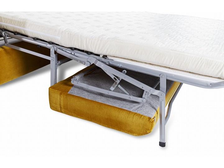 Sofa Narcisser 2-osobowa Welurowa z funkcją spania (Welur bawełna 100% CIEMNOZIELONY :welur/CIEMNOZIELONY) Styl Klasyczny Stała konstrukcja Typ Gładkie