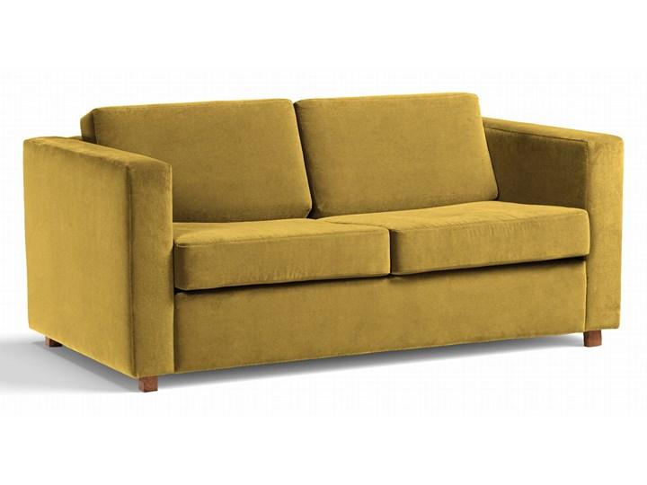 Sofa Narcisser 2-osobowa Welurowa z funkcją spania (Welur bawełna 100% CIEMNOZIELONY :welur/CIEMNOZIELONY) Kolor Żółty Stała konstrukcja Pomieszczenie Salon