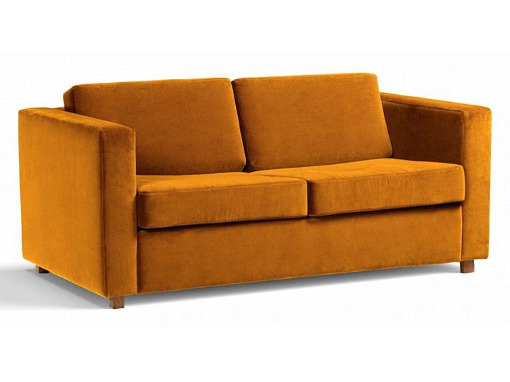 Sofa Narcisser 2-osobowa Welurowa z funkcją spania (Welur bawełna 100% CIEMNOZIELONY :welur/CIEMNOZIELONY) Stała konstrukcja Typ Gładkie