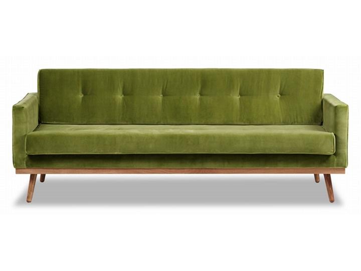 Sofa Klematisar 3-osobowa Welurowa z funkcją spania  (Deluxe - welur łatwozmywalny PEACOCK :deluxe/PEACOCK) Głębokość 91 cm Stała konstrukcja Styl Klasyczny