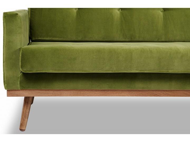 Sofa Klematisar 3-osobowa Welurowa z funkcją spania  (Deluxe - welur łatwozmywalny PEACOCK :deluxe/PEACOCK) Głębokość 91 cm Stała konstrukcja Nóżki Na nóżkach