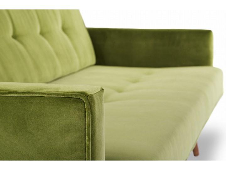 Sofa Klematisar 3-osobowa Welurowa z funkcją spania  (Deluxe - welur łatwozmywalny PEACOCK :deluxe/PEACOCK) Głębokość 91 cm Stała konstrukcja Materiał obicia Skóra ekologiczna