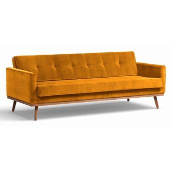 Sofa Klematisar 3-osobowa Welurowa z funkcją spania  (Deluxe - welur łatwozmywalny Amber :deluxe/AMBER)