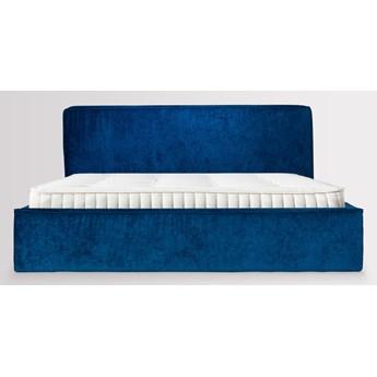 Łóżko Björk (160x200) Welurowe z pojemnikiem na pościel  (Welur bawełna 100% OLIWKOWY :welur/OLIWKOWY)