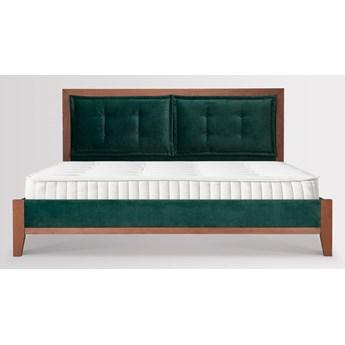 Łóżko Klematisar Bergen (160X200) welurowe  (Welur bawełna 100% CIEMNOZIELONY :welur/CIEMNOZIELONY)