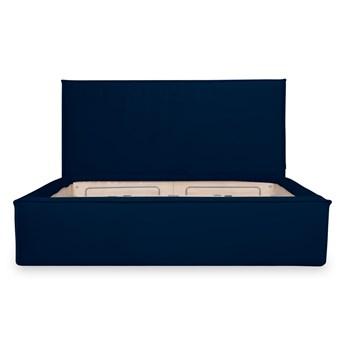 Łóżko Maskros (200X200) welurowe z pojemnikiem na pościel (PIANO - welur łatwoczyszczący Granat:piano/GRANAT 12)