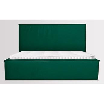Łóżko Maskros (200X200) welurowe z pojemnikiem na pościel (PIANO - welur łatwoczyszczący Zielony:piano/ZIELONY 26)
