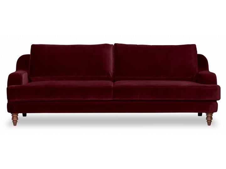 Sofa Mirar 3-osobowa welurowa (Welur bawełna 100% OLIWKOWY :welur/OLIWKOWY) Stała konstrukcja Nóżki Na nóżkach