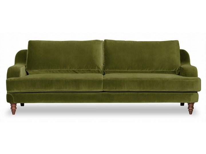 Sofa Mirar 3-osobowa welurowa (Welur bawełna 100% OLIWKOWY :welur/OLIWKOWY)