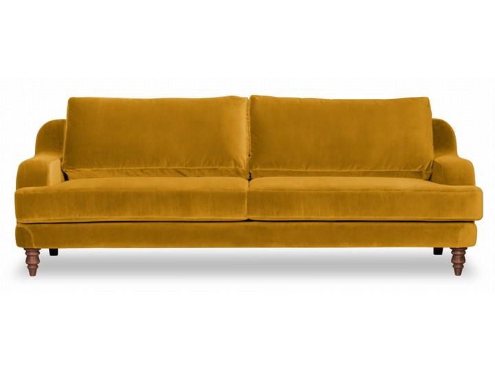 Sofa Mirar 3-osobowa welurowa (Welur bawełna 100% OLIWKOWY :welur/OLIWKOWY) Stała konstrukcja Pomieszczenie Salon