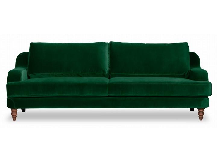 Sofa Mirar 3-osobowa welurowa (Welur bawełna 100% OLIWKOWY :welur/OLIWKOWY) Stała konstrukcja Kolor Khaki