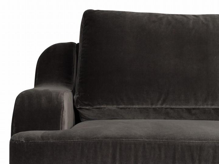 Sofa Mirar 3-osobowa welurowa (Welur bawełna 100% OLIWKOWY :welur/OLIWKOWY) Stała konstrukcja Typ Gładkie