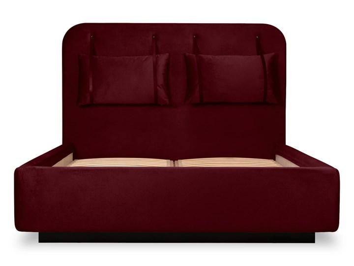 Łóżko Rejse (140x200) welurowe (Vocal - tkanina welwetowa:vocal/Vocal 14) Łóżko tapicerowane Kategoria Łóżka do sypialni