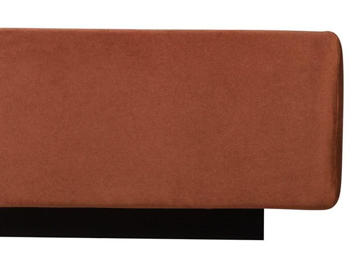 Łóżko Rejse (160x200) welurowe (Vocal - tkanina welwetowa:vocal/Vocal 08) Pojemnik na pościel Bez pojemnika Ekoskóra Drewno Łóżko tapicerowane Metal Styl Nowoczesny