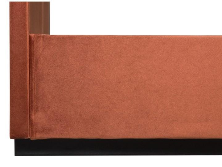 Łóżko Rejse (160x200) welurowe (Vocal - tkanina welwetowa:vocal/Vocal 08) Ekoskóra Łóżko tapicerowane Metal Drewno Styl Vintage