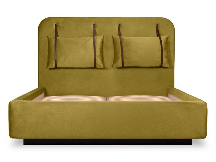 Łóżko Rejse (160x200) welurowe (Vocal - tkanina welwetowa:vocal/Vocal 08) Łóżko tapicerowane Ekoskóra Metal Kategoria Łóżka do sypialni Drewno Kolor Beżowy