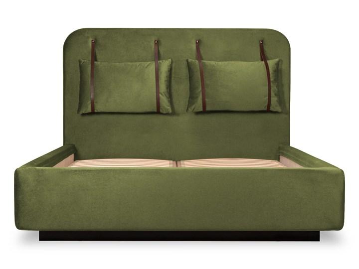 Łóżko Rejse (160x200) welurowe (Vocal - tkanina welwetowa:vocal/Vocal 08) Łóżko tapicerowane Drewno Ekoskóra Metal Kategoria Łóżka do sypialni