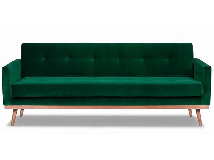 Sofa Klematisar 3-osobowa Welurowa z funkcją spania  (Deluxe - welur łatwozmywalny PEACOCK :deluxe/PEACOCK) Głębokość 91 cm Stała konstrukcja Materiał obicia Tkanina