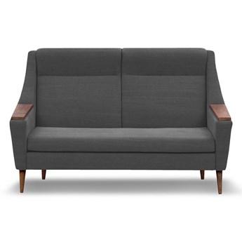 Sofa Rubusar 2-osobowa (Bawełna 63%, len 37%  ANTRACYT :len bawełna/antracyt)
