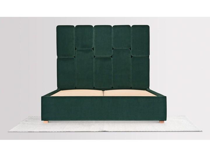 Łóżko Snödroppe (200x200) welurowe  (Welur bawełna 100% |GRANATOWY :welur/GRANATOWY) Pojemnik na pościel Bez pojemnika Łóżko tapicerowane Kategoria Łóżka do sypialni