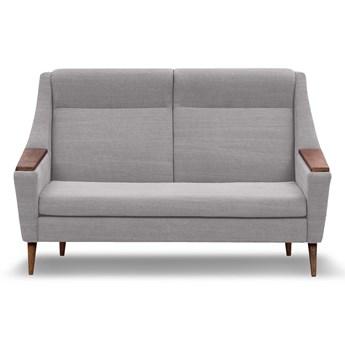 Sofa Rubusar 2-osobowa (Bawełna 63%, len 37% JASNOSZARY :len bawełna/jasnoszary)