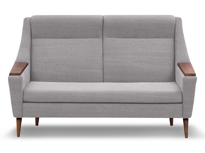 Sofa Rubusar 2-osobowa (Bawełna 63%, len 37% JASNOSZARY :len bawełna/jasnoszary) Stała konstrukcja Materiał obicia Tkanina