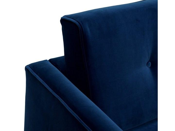 Sofa Klematisar 3-osobowa Welurowa z funkcją spania  (PIANO - welur łatwoczyszczący Musztarda:piano/MUSZTARDA 23) Głębokość 91 cm Stała konstrukcja Szerokość 215 cm Kolor Granatowy