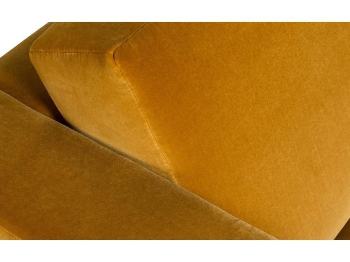 Sofa Narcisser 2-osobowa Welurowa z funkcją spania (Welur bawełna 100% CIEMNOZIELONY :welur/CIEMNOZIELONY) Stała konstrukcja Styl Skandynawski