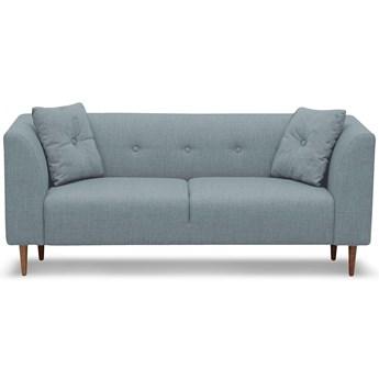 Sofa Ginster 2-osobowa (Bawełna 63%, len 37% PUDROWY NIEBIESKI :len bawełna/pudrowy niebieski)
