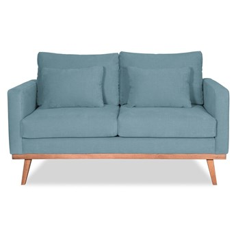 Sofa Bräken 2-osobowa (Bawełna 63%, len 37% PUDROWY NIEBIESKI :len bawełna/pudrowy niebieski)