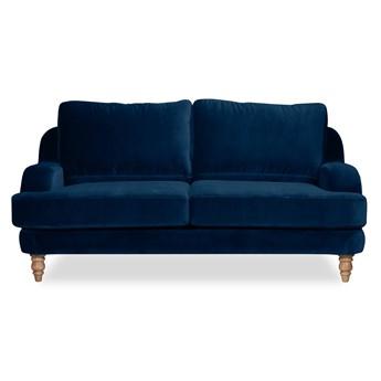 Sofa Mirar 2-osobowa Welurowa  (Welur bawełna 100%  GRANATOWY :welur/GRANATOWY)