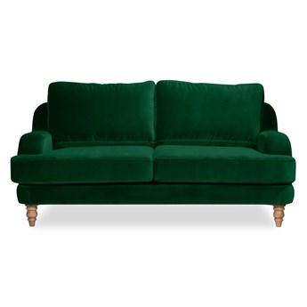 Sofa Mirar 2-osobowa Welurowa  (Welur bawełna 100% ZIELONY :welur/ZIELONY)