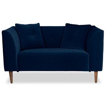 Mini sofa Ginster Welurowa (Welur bawełna 100% |GRANATOWY :welur/GRANATOWY)