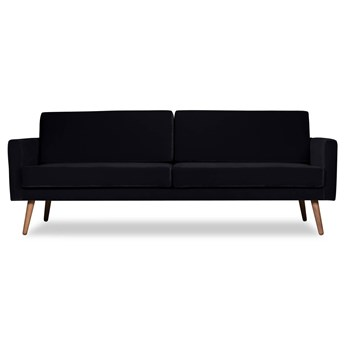 Sofa Glädje 3-osobowa welurowa (Deluxe - welur łatwozmywalny CHARCOAL :deluxe/CHARCOAL)