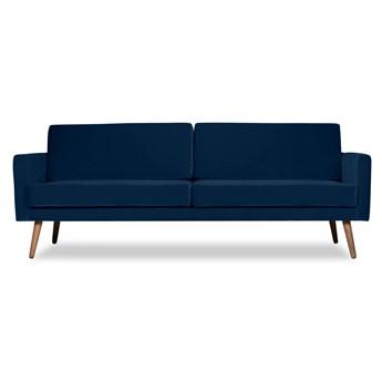 Sofa Glädje 3-osobowa welurowa (Welur bawełna 100% |GRANATOWY :welur/GRANATOWY)