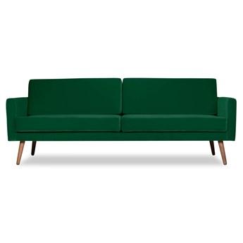 Sofa Glädje 3-osobowa welurowa (Welur bawełna 100% ZIELONY :welur/ZIELONY)