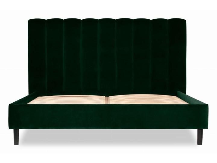 Łóżko Magnolia (160X200) welurowe (Deluxe - welur łatwozmywalny CHARCOAL :deluxe/CHARCOAL) Łóżko tapicerowane Kategoria Łóżka do sypialni