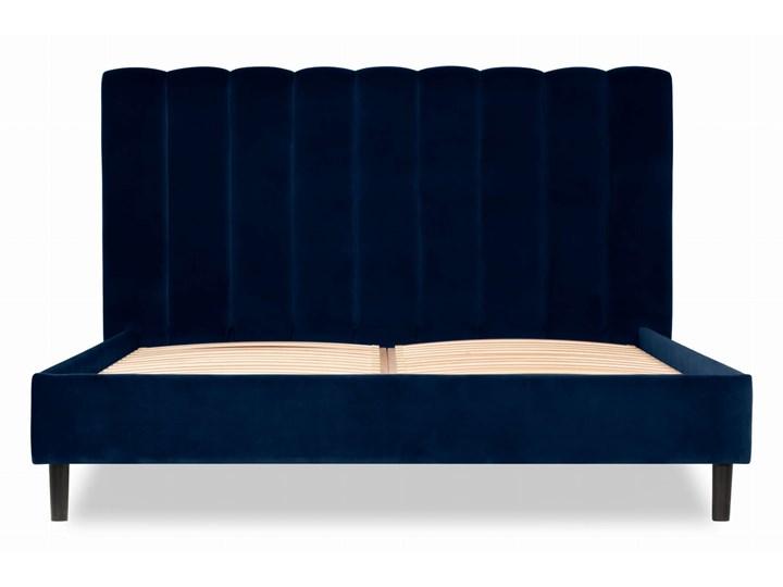 Łóżko Magnolia (160X200) welurowe (Welur bawełna 100% CZARNY :welur/CZARNY) Łóżko tapicerowane Kategoria Łóżka do sypialni